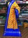 Pochampally Yellow and Blue Ikkat Silk Dupatta