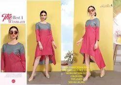 Rachna Wrinkle Free Cotton Pattern Cut Work Funky Town Catalog Kurti For Women