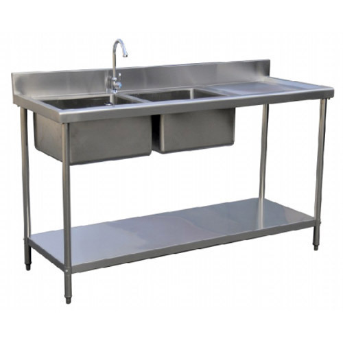 Stainless Steel Double Bowl Sink Table, Rs 20000 /unit, Sri ...