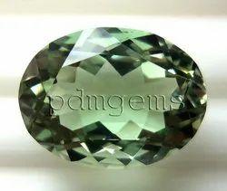 Green Amethyst Oval Gemstone For Rings