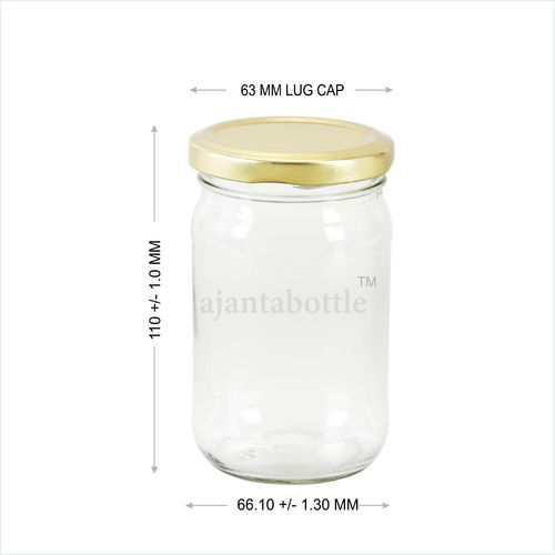 34705b97fe7a Jam Jars and Glass Bottles - 300 GM 63 Lug Jar Wholesale Trader from ...