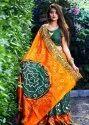 Art Silk Bandhej Saree