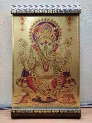 Black Metal Lord Ganesh Wall Picture, Size: Y