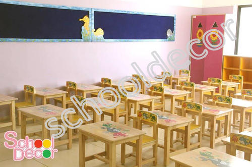 Rubber Wood Nursery School Furniture
