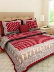 Dayal Traders Cotton Double Bedsheet With Pillow Cover, For Home,Hotel, Size: 90x100 Inch