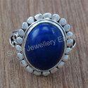 Lapis Lazuli Gemstone 925 Sterling Silver Ring