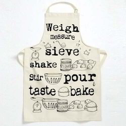 Printed Personalized Woven Apron, Size: Standard