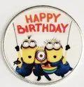 Happy Birthday Color Silver Coin 10 gm.