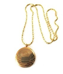 Brass Scalar Energy Pendant