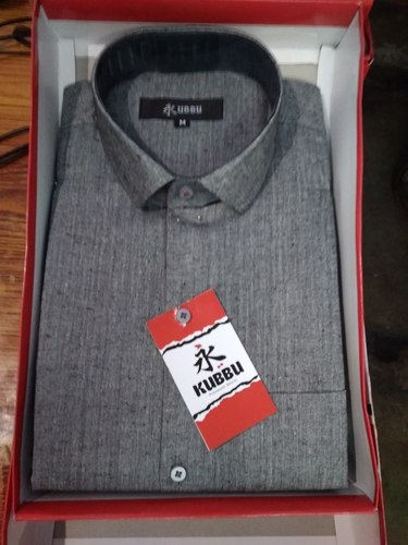 Dark Grey Dark Gray Readymade Shirt