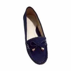 Ladies Velvet Loafer Shoes