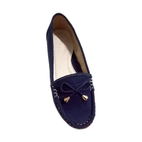 Blue Flats Ladies Velvet Loafer Shoes