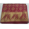 Ladies Maroon Pochampally Silk Sarees