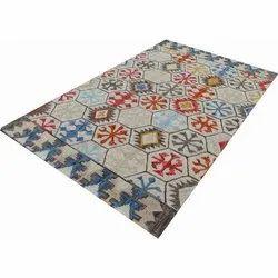 Polyester Printed Handmade Carpet Dari