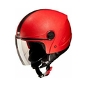 Rexoscar Red Plastic Body Half Face Helmet