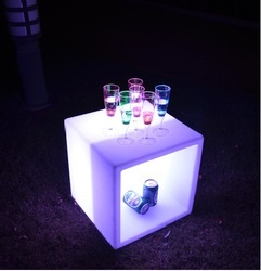 LED Cubical Ice Bucket
