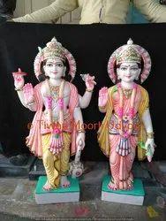 Marble Laxmi Vishnu Statue Moorti