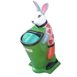 Fiber Rabbit Shape Dustbin