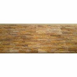 Brown Wood Teak Rockface Wall Cladding, Packaging Type: Corrugated Box