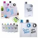 A5 Memo Notebook Size Ultra Slim Water Bottle 380 ml Bottle