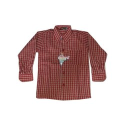 Ruchika Checks Cotton School Uniform Shirt, Size: 24-40