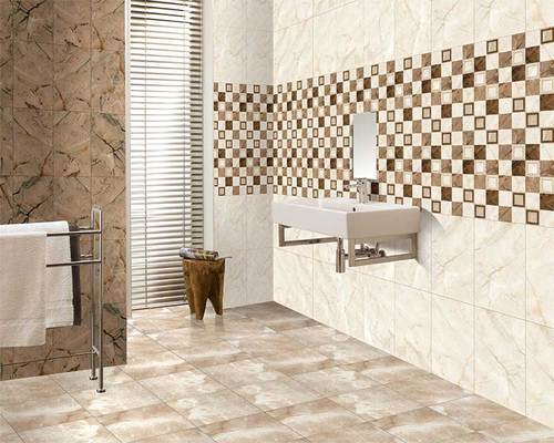 White Kajaria Floor Tiles Thickness 10 15 Mm Size In Cm 30