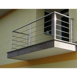 316 Stainless Steel Balcony Railing, Material Grade: SS316L