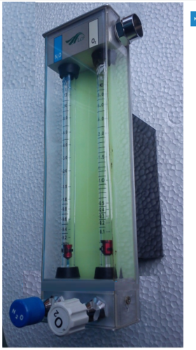 Stainless Steel Hypoxic Guards Rotameter, for Hospitals