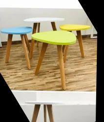 Modern Wood&PP Corner Tables