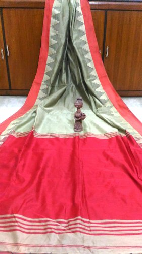 Runu' s Boutique wooven Handloom Silk Cotton Saree, Hand Made, With Blouse Piece