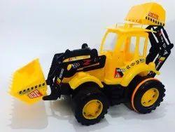 Yellow Plastic JCB Toy, No. Of Wheel: 4 Wheel