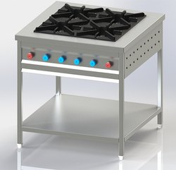 SLC Stainless Steel 4 Burner Bhatti