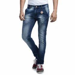 Blue Denim Mens Slim Fit Jeans