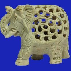Soapstone Elephant Sculptures Undercut