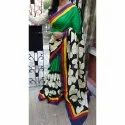 Ladies Silk Hand Printed Saree