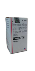 Tafero EM Emtricitabine 200mg & Tenofovir Alafenamide 25mg Tablets