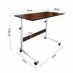 Kawachi Portable Foldable Height Adjustable Studying Desk Bedside Laptop Table