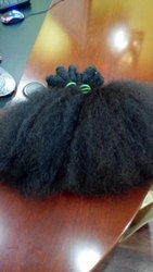 Double Weft Indian Afro Curly Human Hair