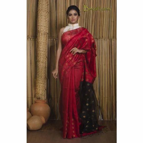 0cab426eda Khadi Matka Silk Saree in Red and Black at Rs 7800 /piece   Khadi ...
