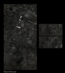 Black Brescia Digital Glazed Vitrified Tile