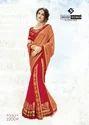 Indian Women Orange & Red Two Tone Chiffon