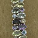 925 Sterling Silver Green Amethyst Gemstone Bracelet