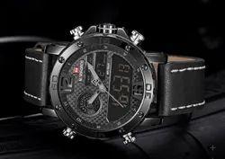 Black NF9134 Naviforce Double Time Analog/Digital Watch