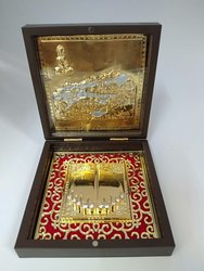 Gold Plated Shatrunjay Photo Frame Box