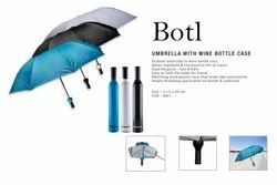 Bottle Umbrella With  Wine Bottle Case