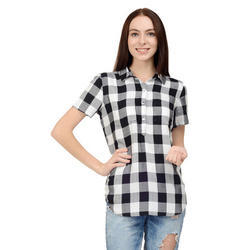 Cotton Casual, Formal Ladies Check Shirts