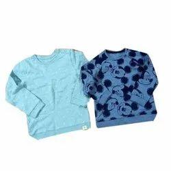 Full Cotton/Linen Kids Round Neck T Shirt, Size: S - XXL