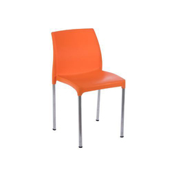 Plastic Cafeteria Decorative Chair, Weight: 8 to 10 kg