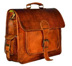 Unisex Vintage Look Genuine Leather Laptop Bags