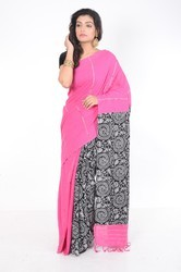 Pink Khesh Cotton Saree